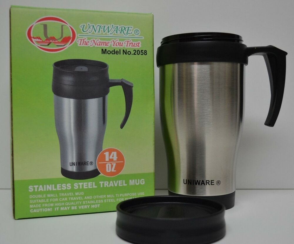 14 oz Stainless Steel Travel Heated Thermos Coffee Mug Cup ...