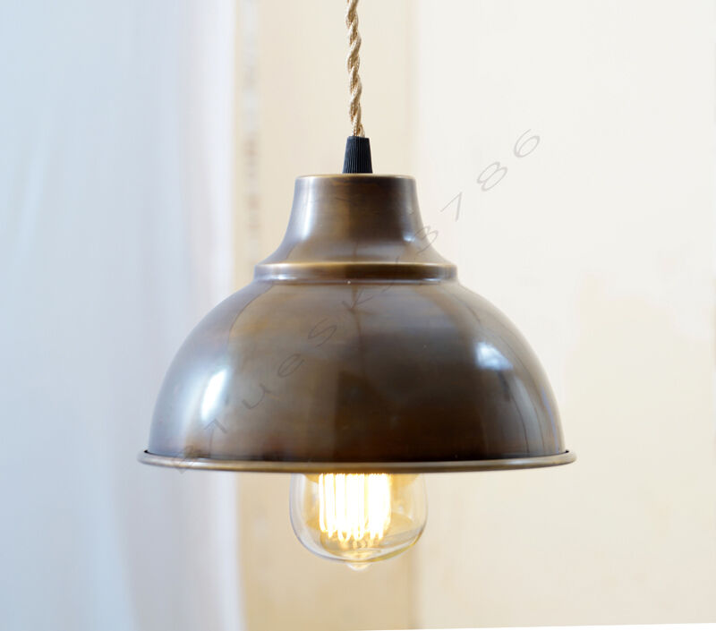 industrial green porcelain pendant lamp shade green