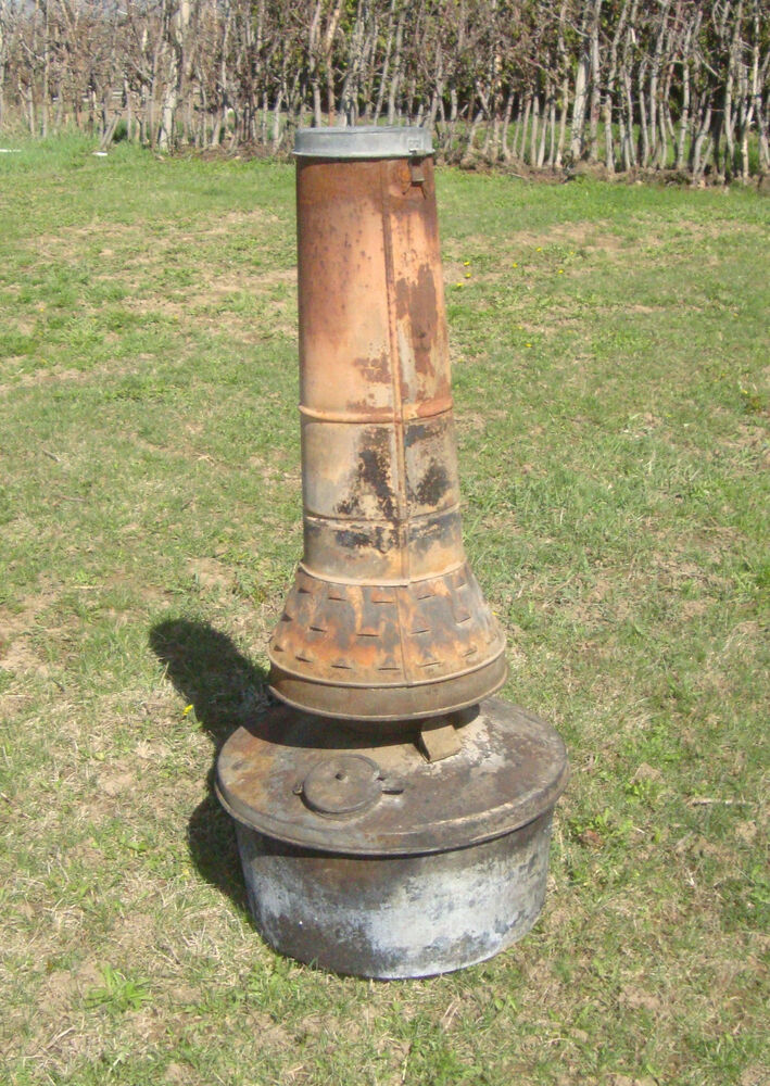 Orchard Heater Smudge Pot Rustic Yard Art Working Anti