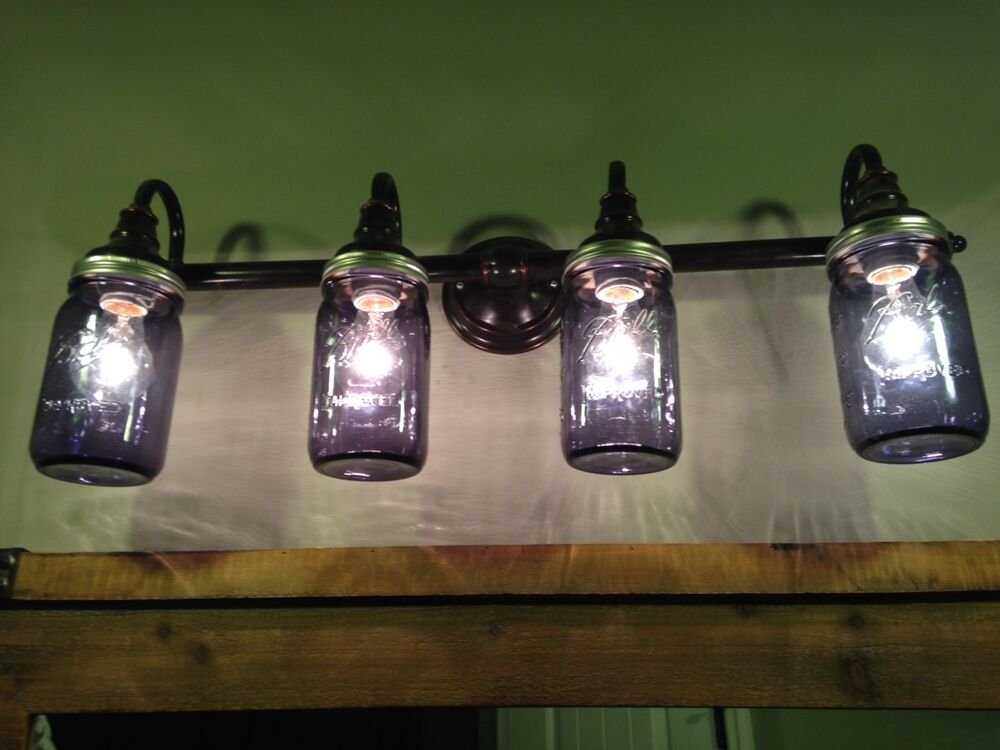 Vanity Lights Mason Jars : Mason Jar Bathroom Vanity Lights! Custom made to your liking! eBay