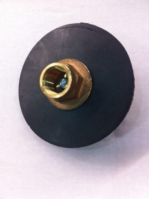 Heavy duty quot force curb plunger reinforced rubber brass