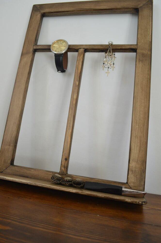 Wood Window Frames : Wood window primitive frame vintage chic home decoration