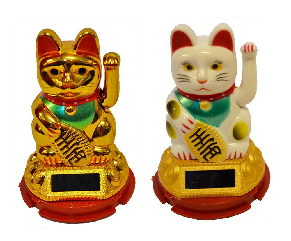 winkekatze gl cksbringer winkende katze maneki neko solar. Black Bedroom Furniture Sets. Home Design Ideas