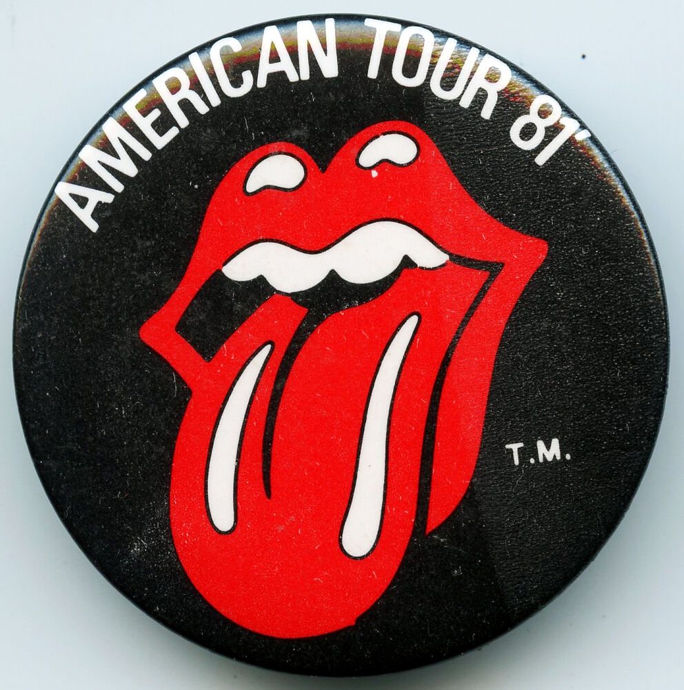 the rolling stones american tour 81 pin ebay. Black Bedroom Furniture Sets. Home Design Ideas