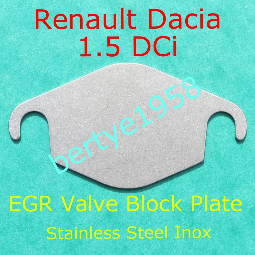 egr valve blanking plate renault dacia 1 5 dci magane luguna clio scenic modus ebay. Black Bedroom Furniture Sets. Home Design Ideas