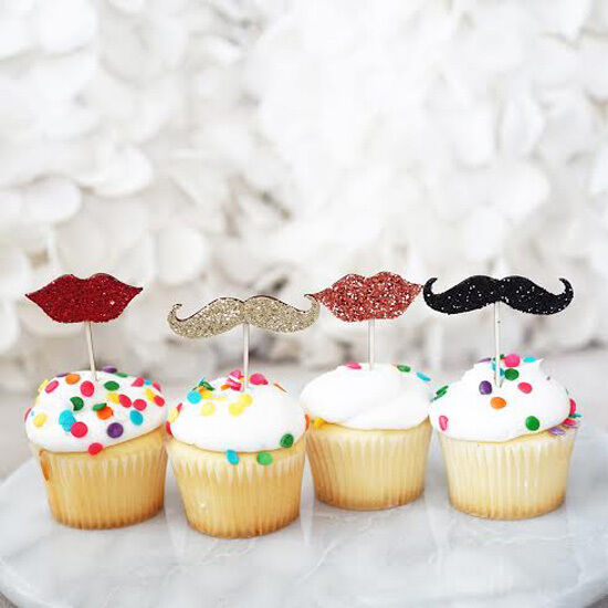 Red Lips Cake Topper