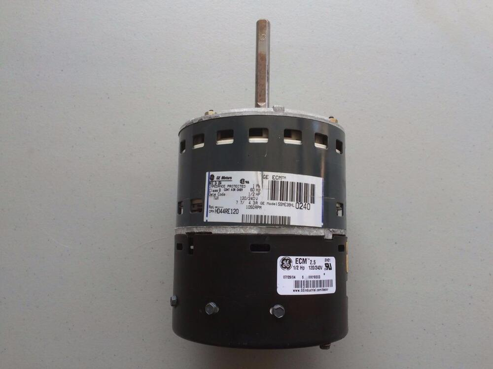 Ge 5sme39hl0240 carrier bryant hd44re120 variable speed for Blower motor for carrier furnace