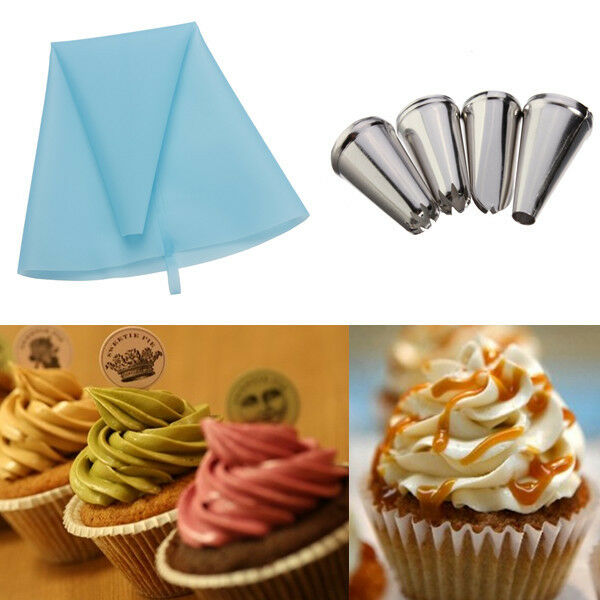 Cake Decorating Bag Tips : Icing Piping Nozzles Tips Pastry Bag Cake Cupcake ...