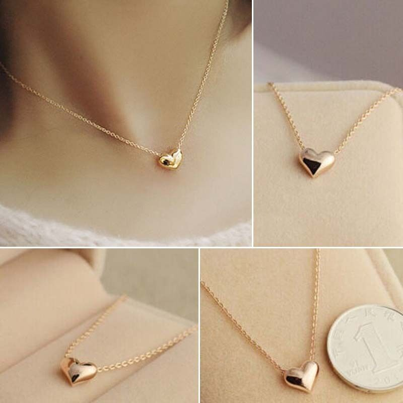 Fine girl simple design exquisite gold color chain heart love fine girl simple design exquisite gold color chain heart love pendant necklace 6926559211565 ebay mozeypictures Choice Image