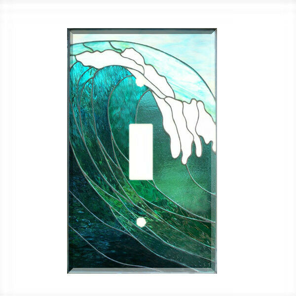 Decorative Wall Light Covers : Tropical ocean wave light switch plate wall cover nautical