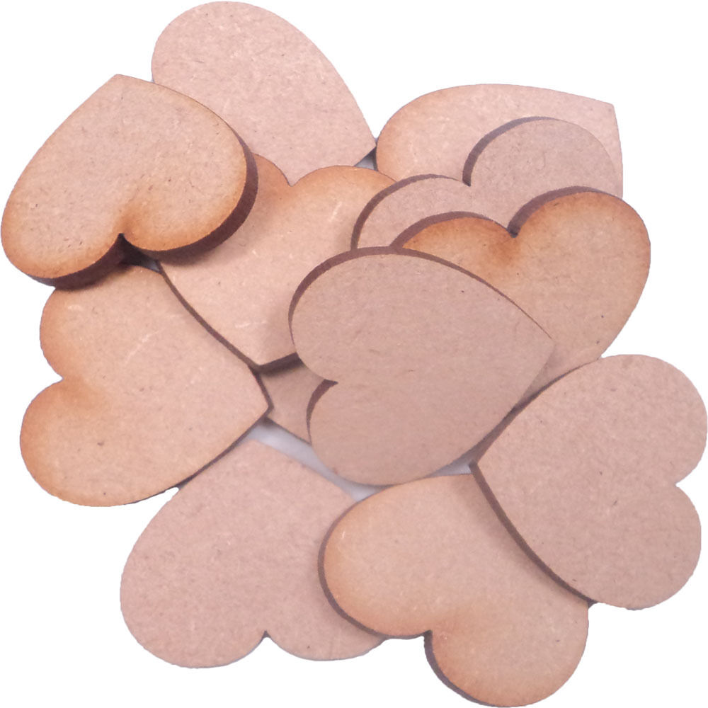 Wooden mdf hearts shape 3mm mdf craft shape tags for Wooden hearts for crafts