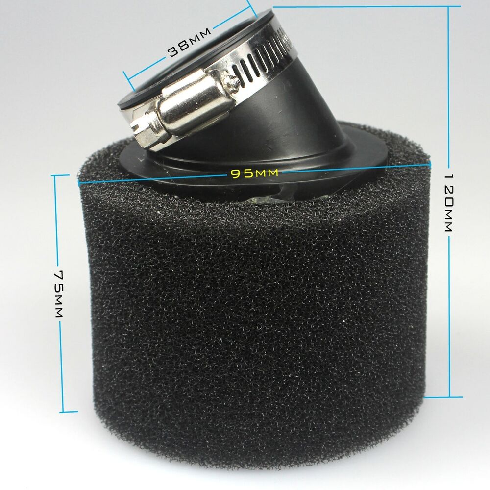 Dirt Modified Air Cleaner : Mm moped scooter black foam air filter cleaner cc