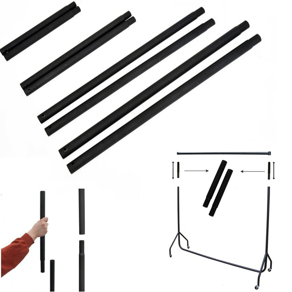 extension poles for garment clothes rail 12 18 24 and. Black Bedroom Furniture Sets. Home Design Ideas