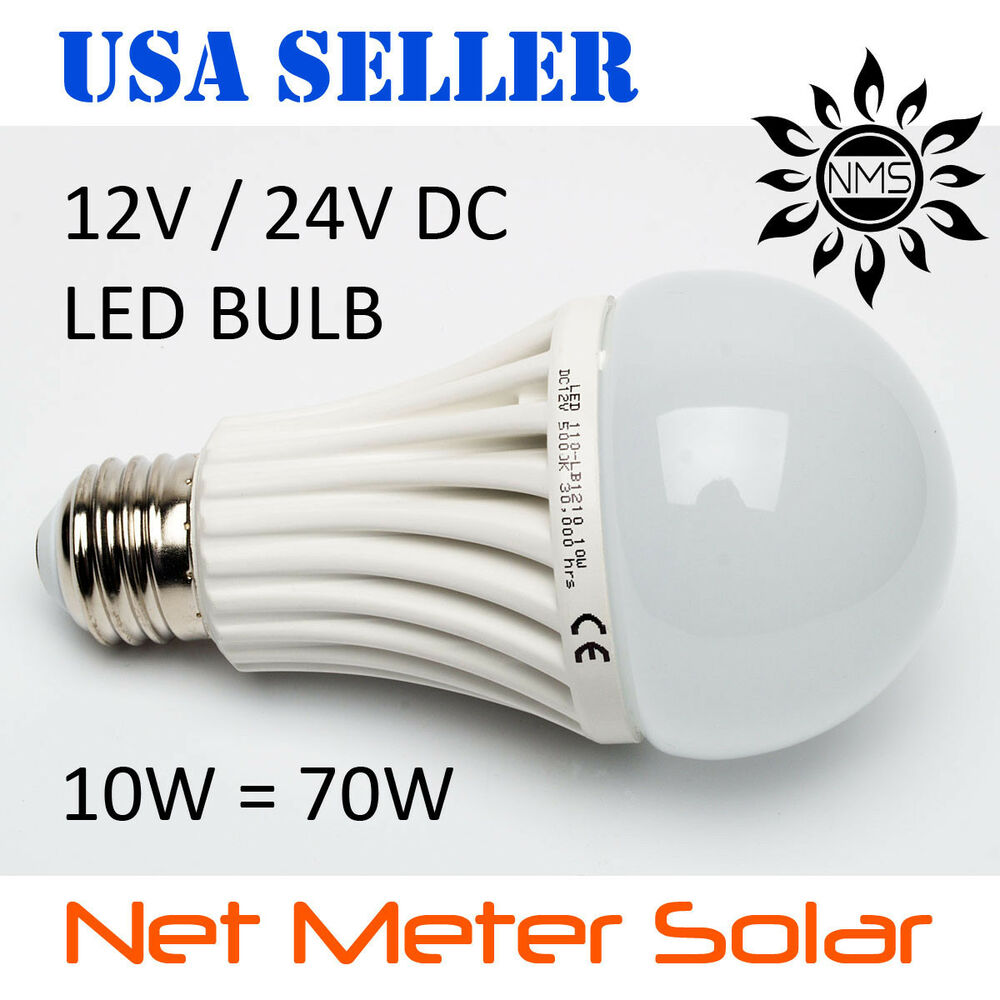 12v 24v 10w led light bulb solar home rv camping emergency lamp off grid boat ebay. Black Bedroom Furniture Sets. Home Design Ideas