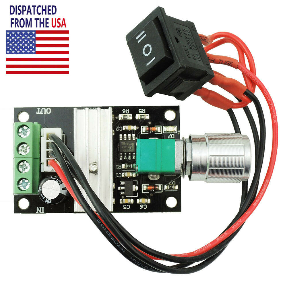 6v 28v Max 3a 80w Pwm Dc Motor Speed Controller Reversible