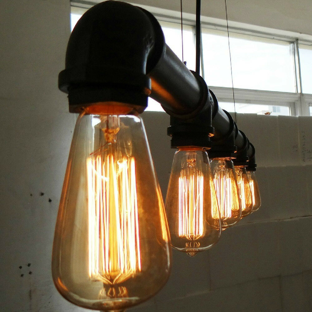 Retro Industrial Vintage Water Pipe Ceiling Light Fixture