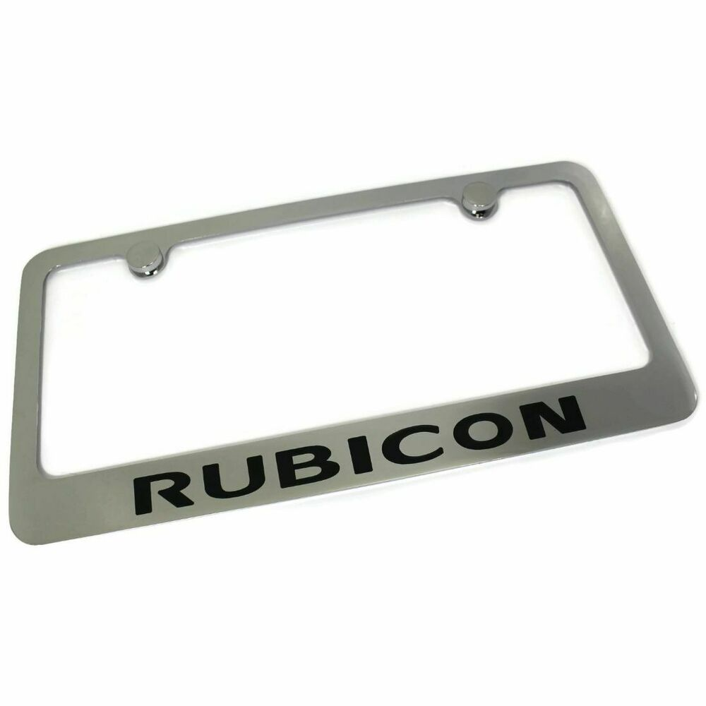 jeep rubicon license plate frame number tag rotary engraved chrome. Cars Review. Best American Auto & Cars Review