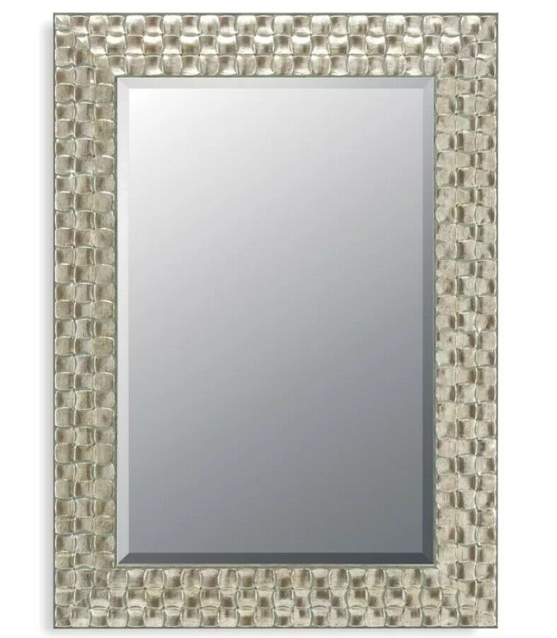 Silver Mirror Wall Photo Frame: John Lewis Wall Mirror Bevelled Wood Mosaic Frame Antique