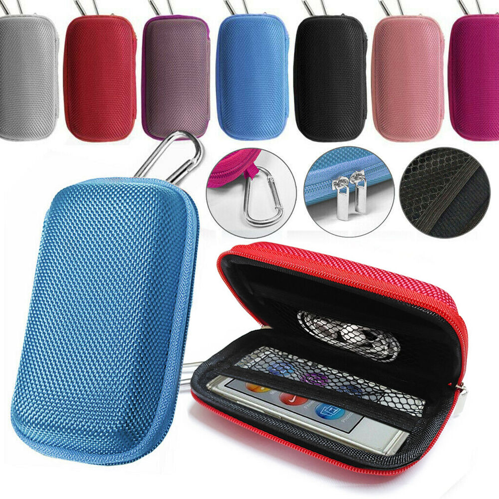 Durable Tough Hard Fabric Mp3 Player Cover Clamshell Case