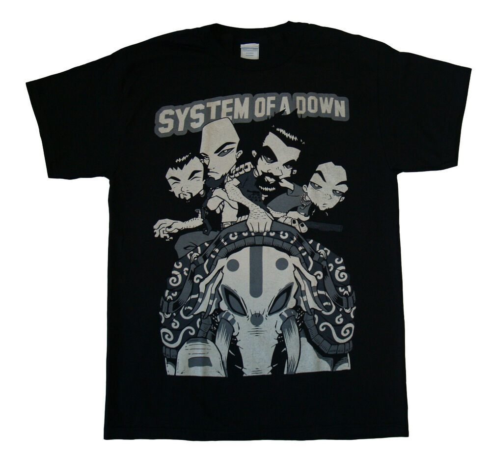 system of a down animation t shirt s m l xl 2xl brand. Black Bedroom Furniture Sets. Home Design Ideas