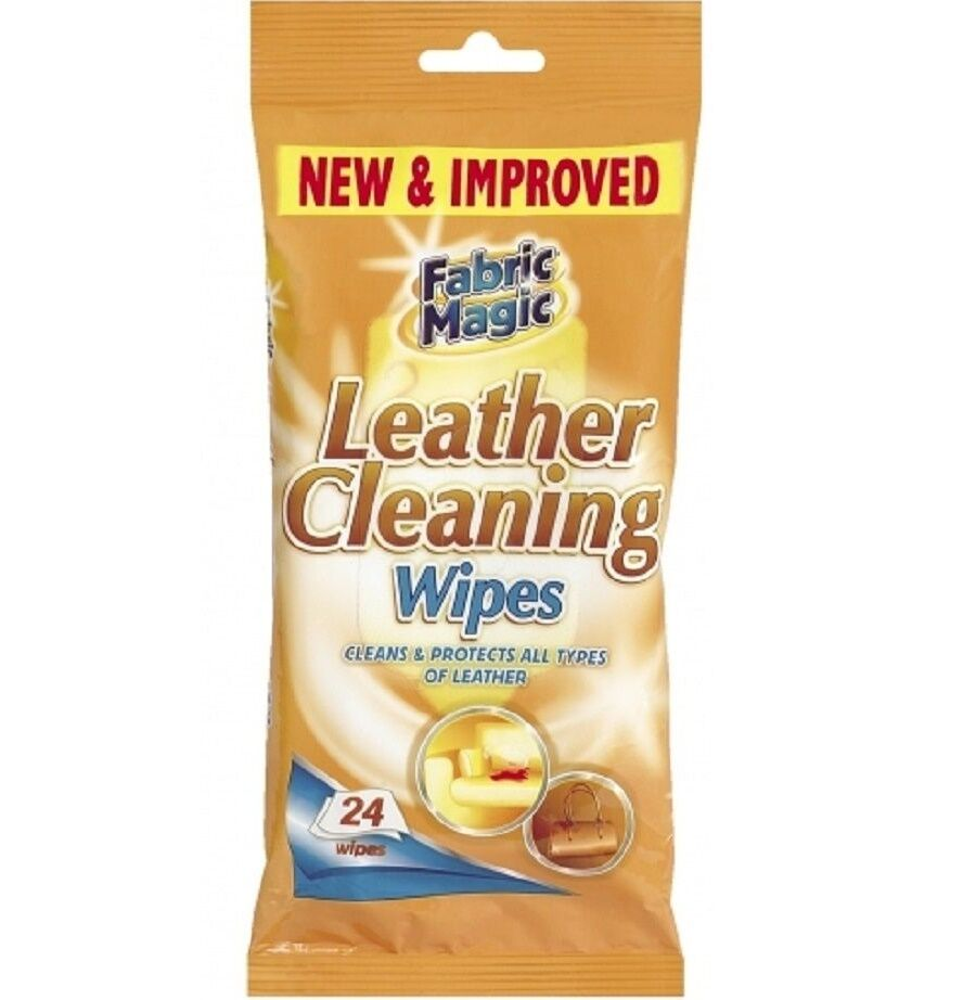 24 PACK LEATHER CLEANING WIPES CLEANS & PROTECTS SOFA CAR ...