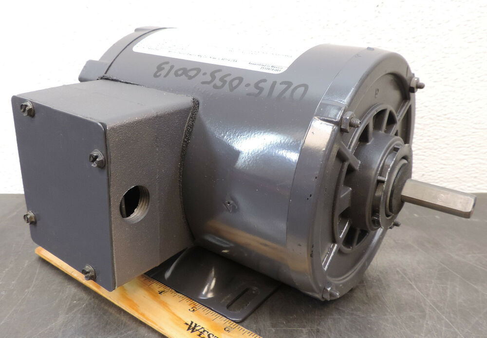 Dayton 3n349bd electric motor 1 4 hp 3 ph 1725 rpm 208 230 for Dc motor 1 3 hp