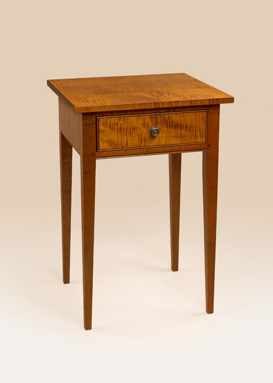 Hepplewhite Stand Nightstand Tiger Maple Wood Shaker End Table Furniture Ebay