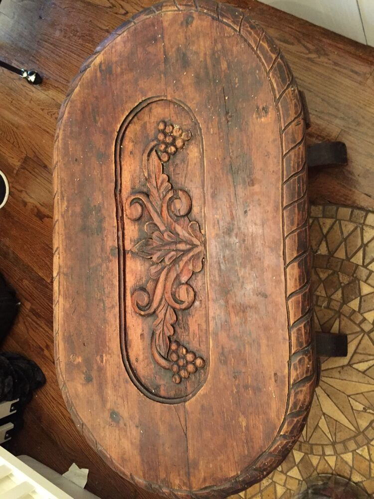 English century oak hand carved coffee table ebay