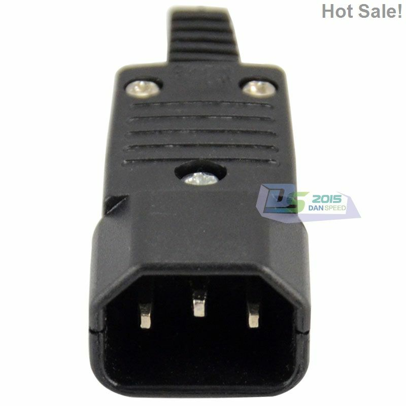 iec 320 c14 rewirable connector male plug 10a 250v power. Black Bedroom Furniture Sets. Home Design Ideas