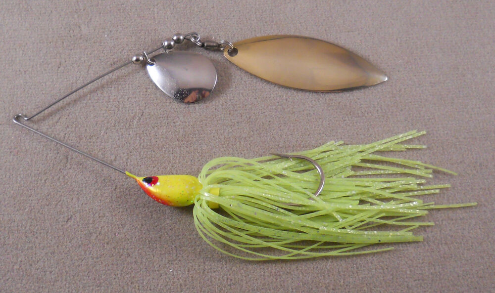 Bass fishing lure custom spinnerbait 3 8 oz 1 colorado for Bass fishing in colorado