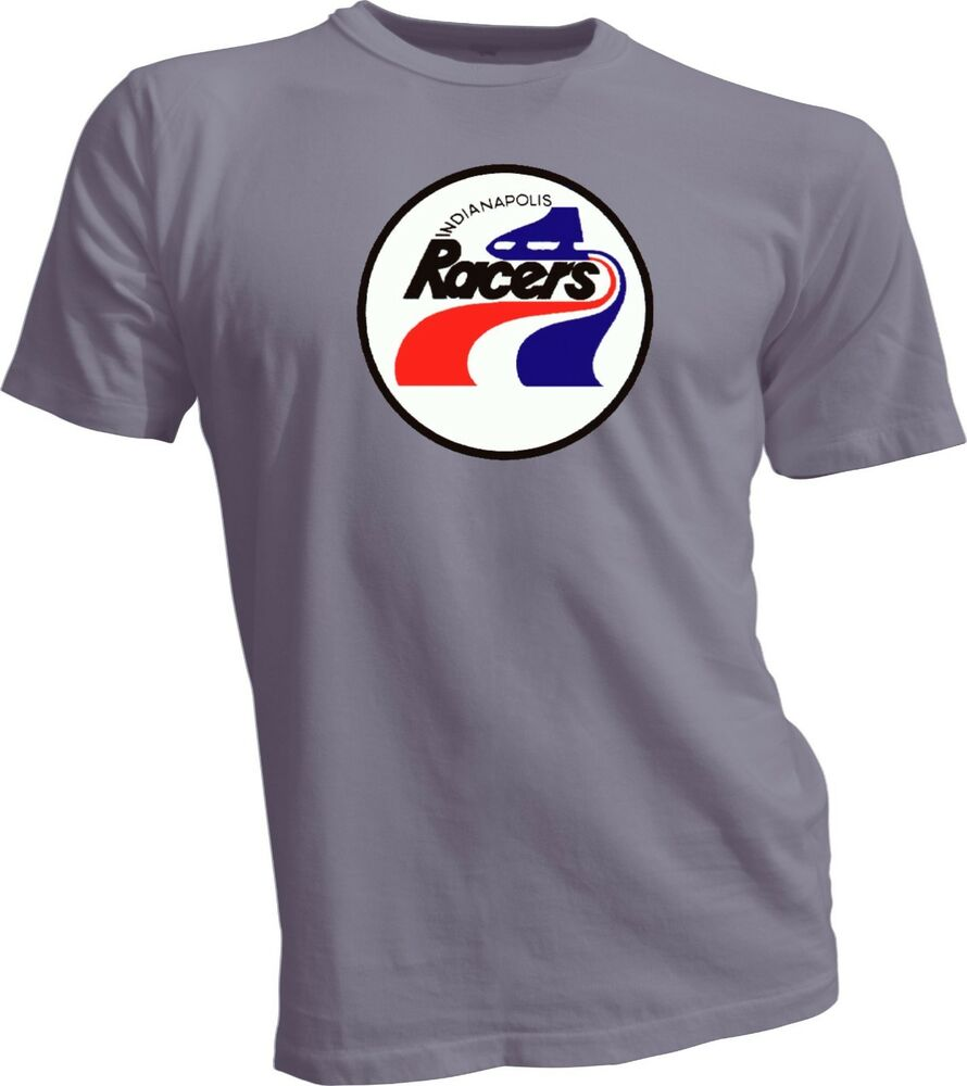 Indianapolis racers defunct wha hockey vintage style t for Retro nhl t shirts