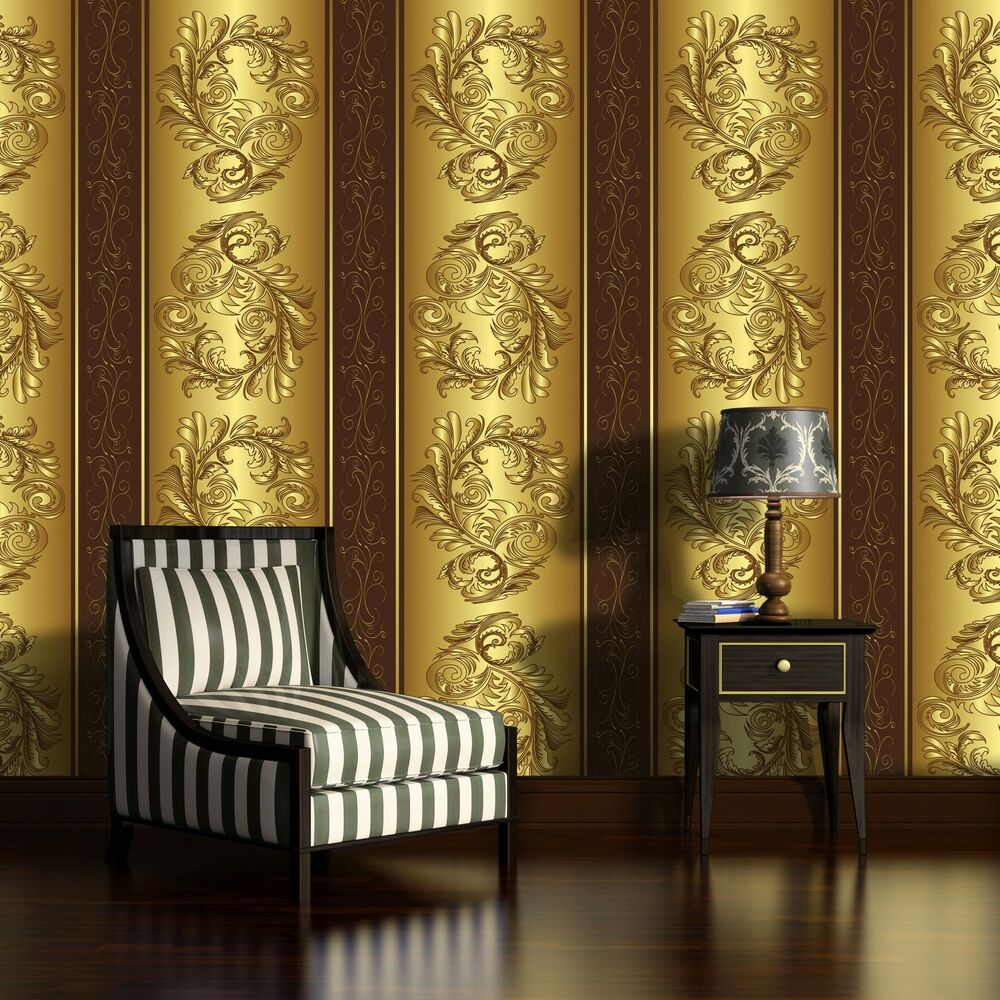 poster fototapete tapete poster foto bild tapeten ornament gold muster 3fx2087p4 ebay. Black Bedroom Furniture Sets. Home Design Ideas