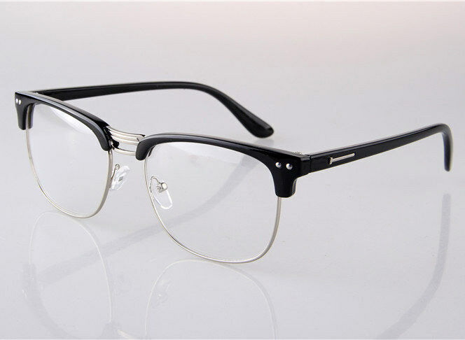 Half Rimless Eyeglass Frames : New Men Women Half Rimless Myopia Glasses Eyeglass ...