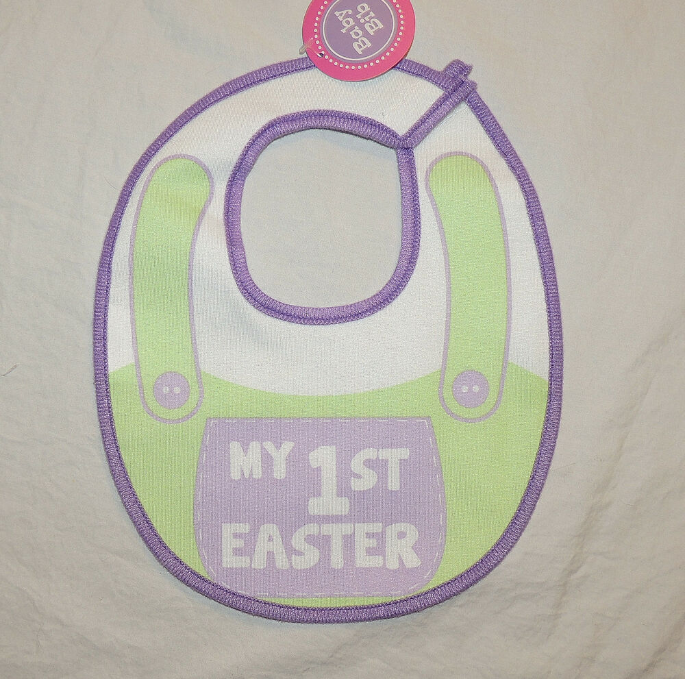 NEW Unisex Baby My First Easter Bib, Lined, Bunny, Chick ...