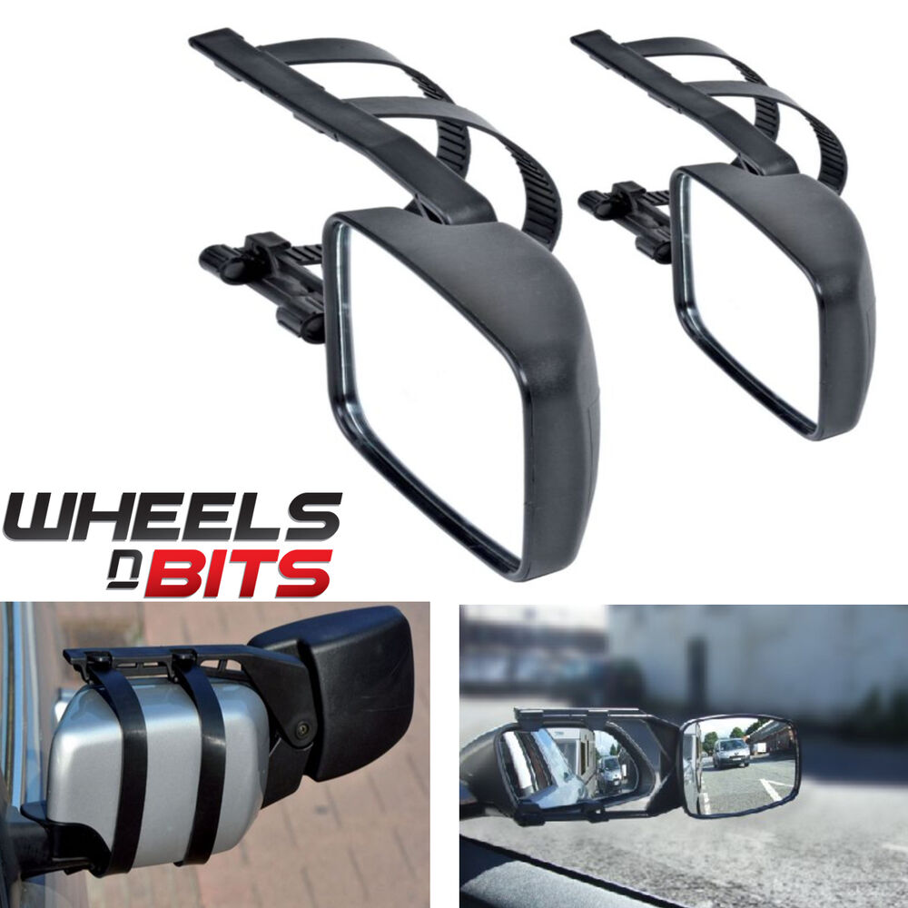 Vehicle Towing Mirrors : Caravan towing mirror extension car wing mirrors for