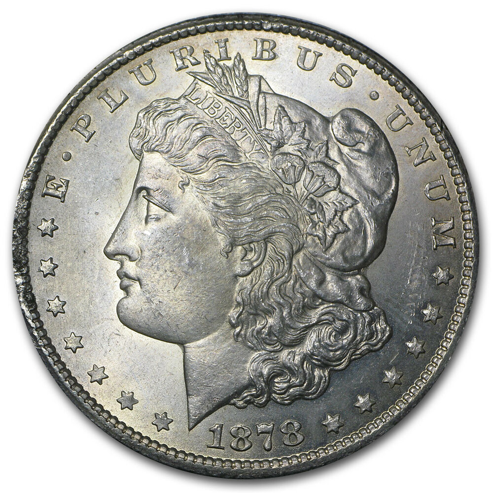 1878 Cc Morgan Dollar Coin Brilliant Uncirculated Ebay