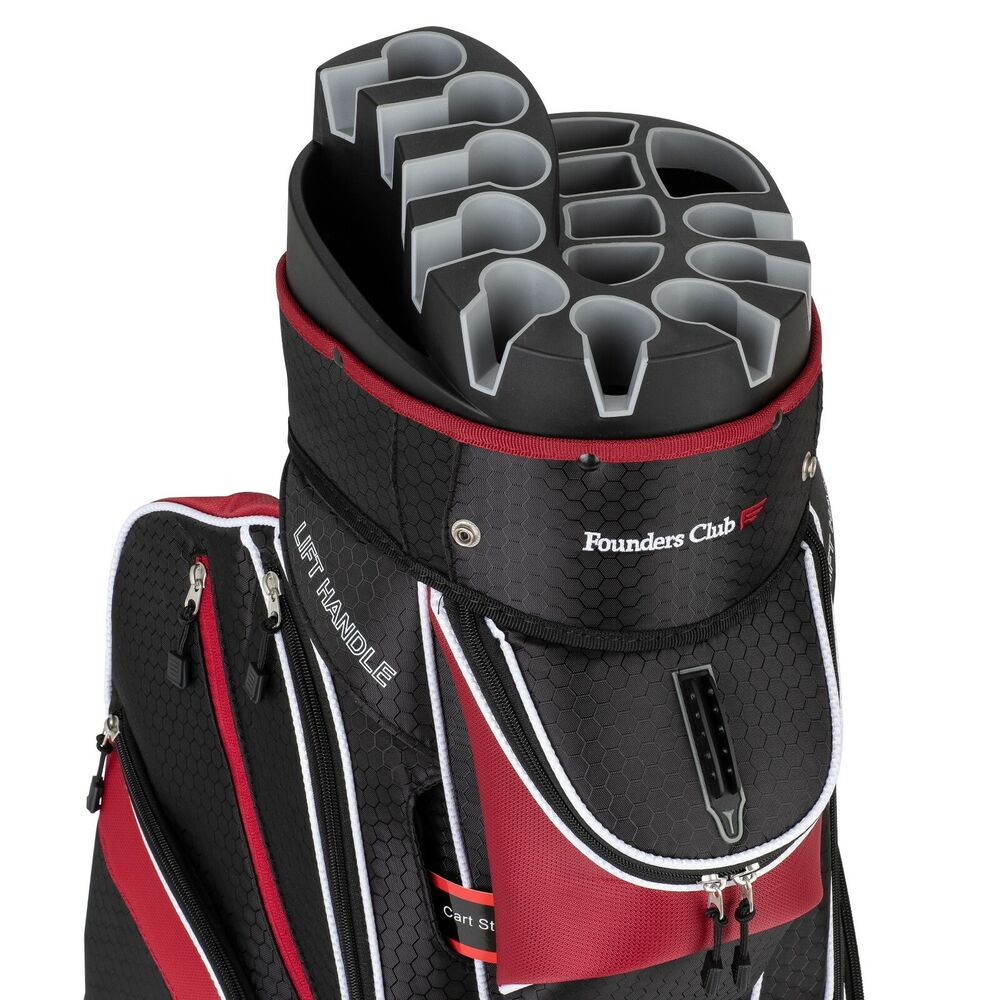 Founders Club Premium Cart Bag With 14 Way Organizer Top