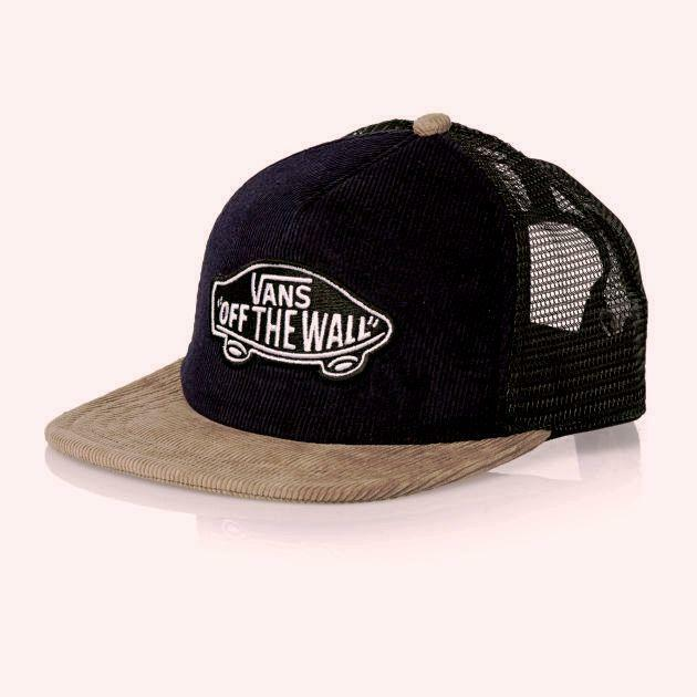 1d862f5fc50c3 Details about Vans Off The Wall Classic Patch Corduroy Trucker Snapback Hat  Cap Navy NWT OSFA