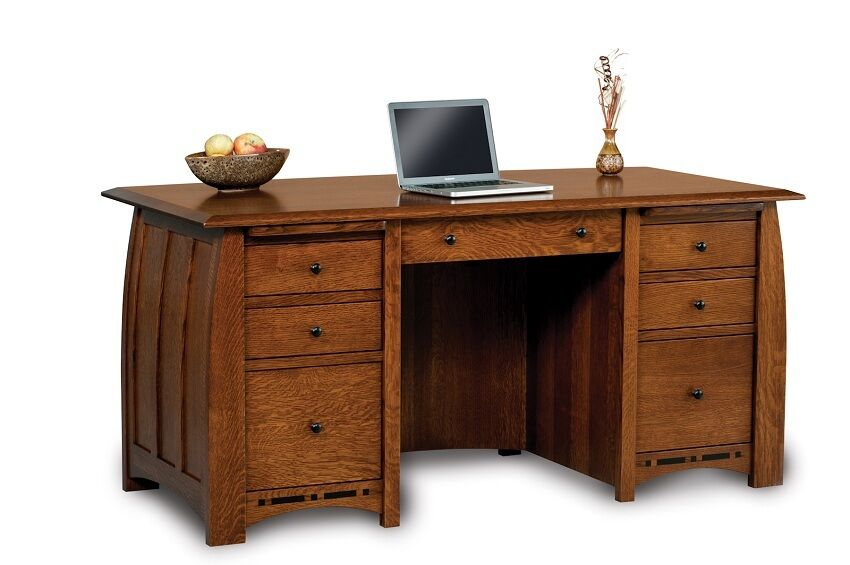 Amish Executive Computer Desk Solid Wood Furniture Office