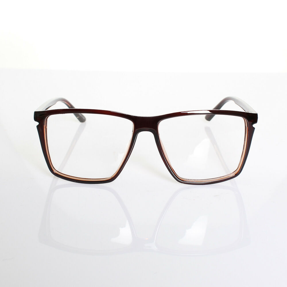Clear Framed Fashion Glasses : Mens Womens Retro Nerd Fashion Clear Lens Glasses Geek ...