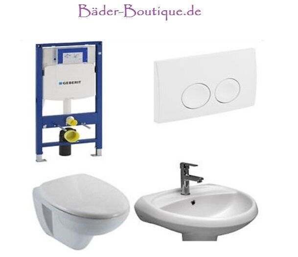wand wc mit spezialglasur waschbecken trockenbau wc sitz wc becken komplett ebay. Black Bedroom Furniture Sets. Home Design Ideas