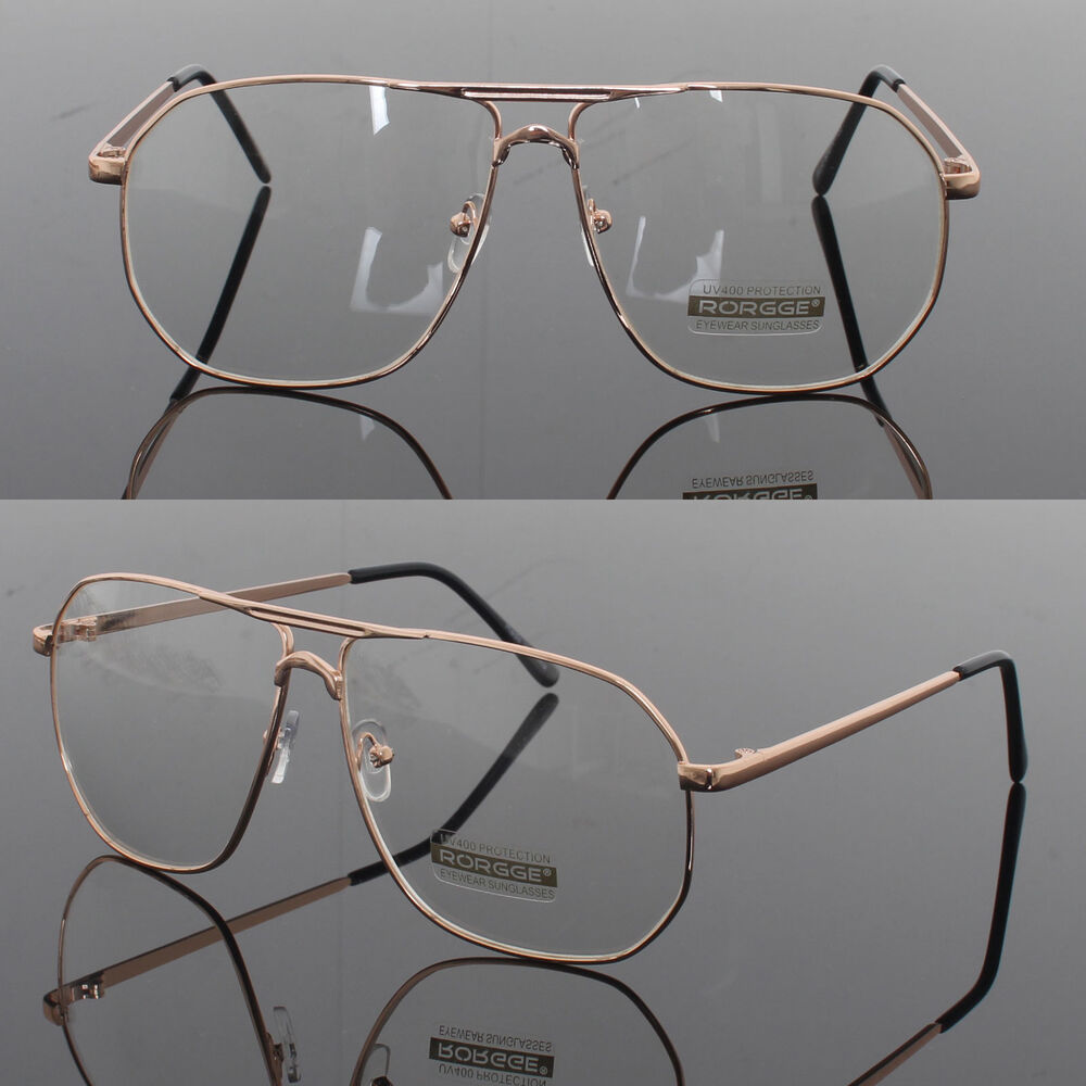 Mens Clear Lens Fashion Glasses Mens Womens Retro Metal Frame
