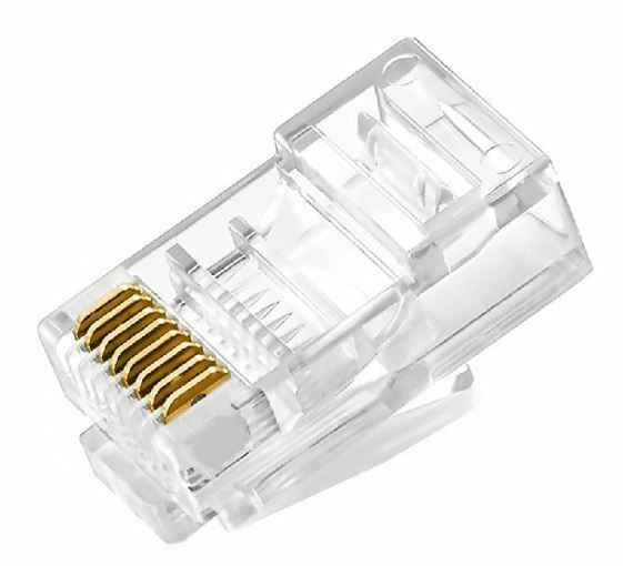 Cable End Connectors : Rj connector ethernet network lan cat cable crimp