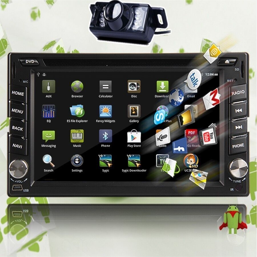 android hd wifi 6 2 double 2 din car radio stereo dvd. Black Bedroom Furniture Sets. Home Design Ideas