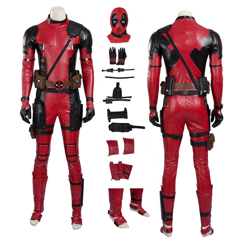 X-Men Deadpool Wade Wilson Cosplay Costume Handmade Full ...