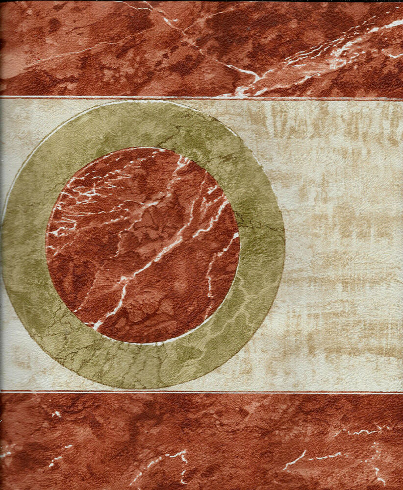 RAYMOND WAITES RUST AND GOLD ABSTRACT WALLPAPER BORDER