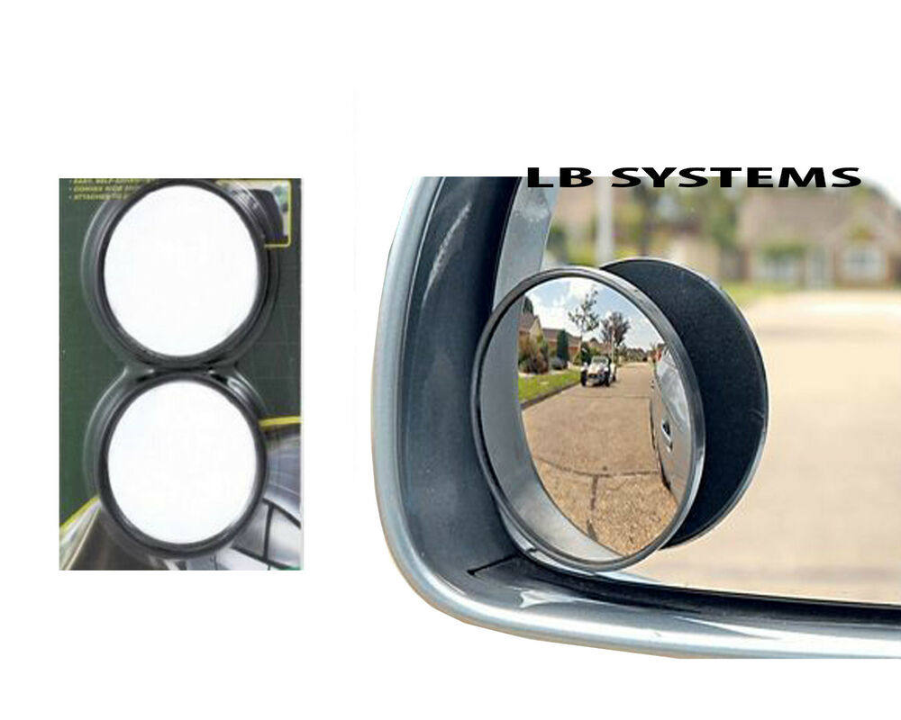 2 x convex blind spot mirrors towing blindspot mirror for. Black Bedroom Furniture Sets. Home Design Ideas