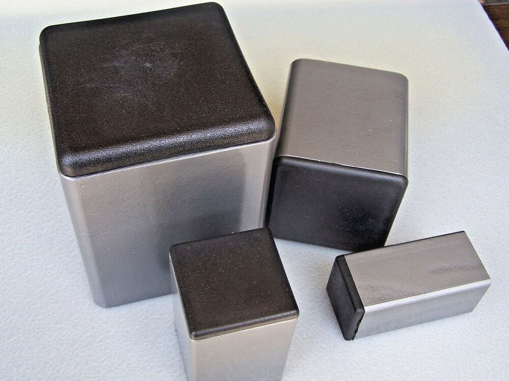 Plastic insert plugs the open end of quot square steel tube