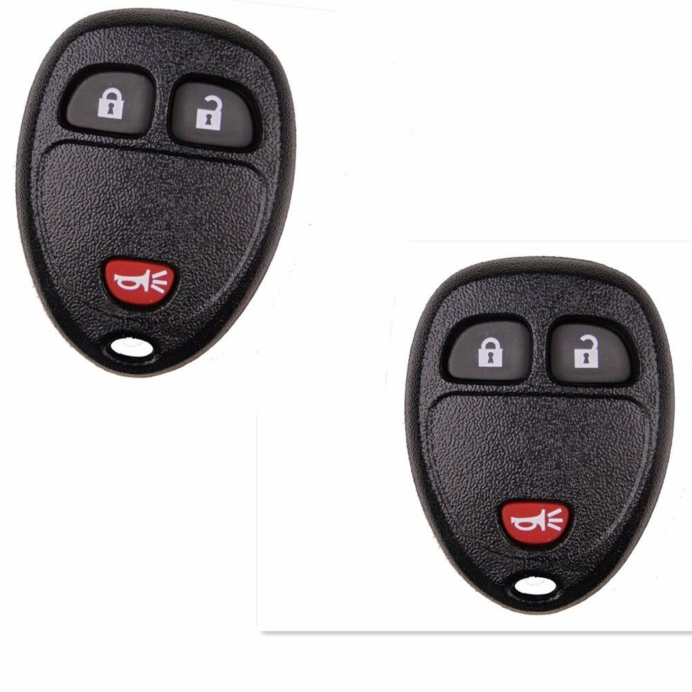 2Pcs 3 Buttons Remote Key Shell Case Fob For Chevrolet GMC ...