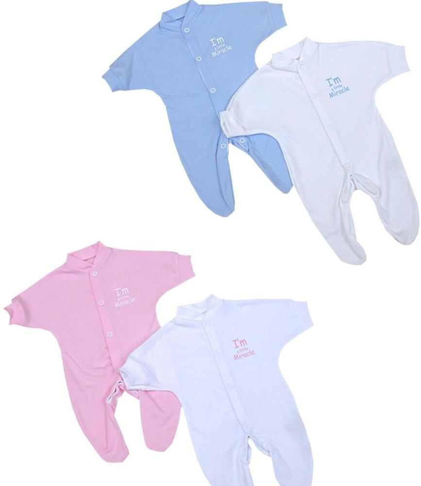 BabyPrem PREEMIE Baby Clothes Boys Girls 2x MIRACLE e